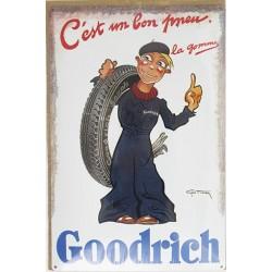 plaque publicitaire 20x30cm bombée pneu Goodrich