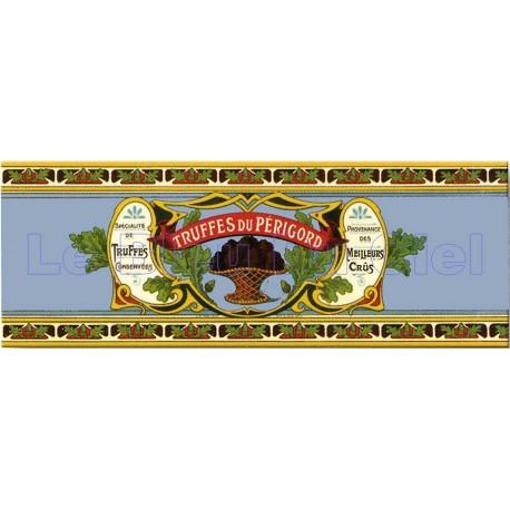 Plaque métal publicitaire 18x45 cm plate : TRUFFES DU PÉRIGORD