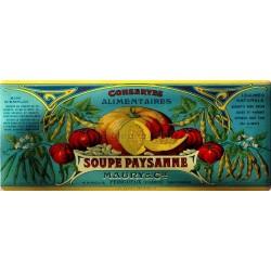 Plaque métal publicitaire 18x45cm plate : SOUPE PAYSANNE