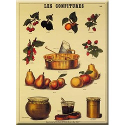 Plaque métal publicitaire 30x40cm plate : LES CONFITURES