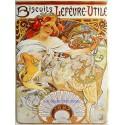 Plaque métal publicitaire 30x40 cm plate : Biscuits LEFEVRE UTILE