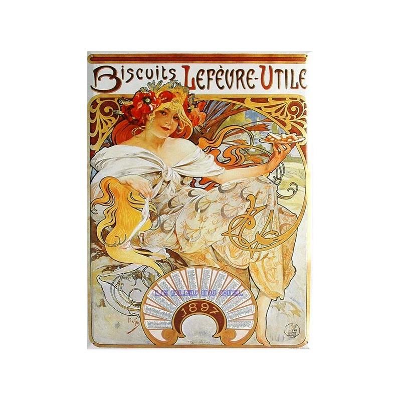 Lu Petit Ecolier Biscuit - Plaque métal vintage - Ancienne