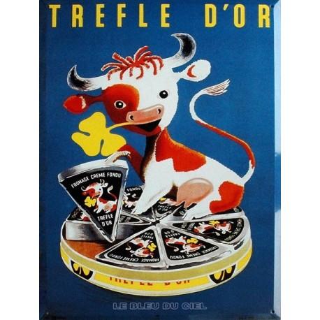 Plaque  métal publicitaire 30x40 cm plate  : TREFLES D'OR