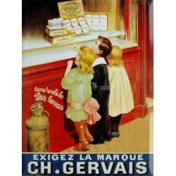 Plaque métal publicitaire 30x40 cm plate : CHARLES GERVAIS