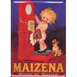 Plaque métal publicitaire 30x40 cm bombée : MAIZENA