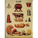 Plaque métal publicitaire 30x40 cm plate : LE LAIT