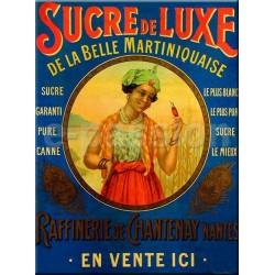Plaque métal publicitaire 30x40cm plate  : Sucre de Luxe