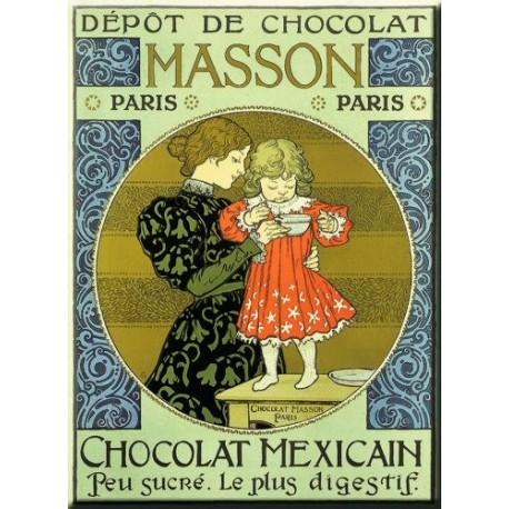 Plaque métal publicitaire 30x40cm plate : Chocolat Masson.