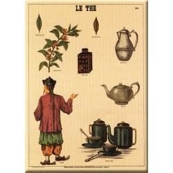 Plaque métal publicitaire 30 x 40 cm plate, biseautée : LE THÉ.