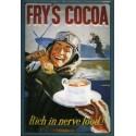 plaque publicitaire 20x30cm bombée relief Fry's Cocoa