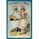 Plaque métal publicitaire 20x30cm bombée en relief : Chocolat LINDT