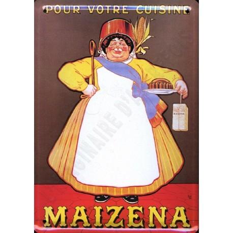 Plaque métal publicitaire 15x21cm plate : Maizéna