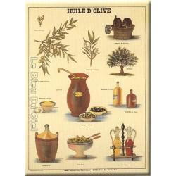Plaque métal publicitaire 15x20cm plate : Huile d'Olive.