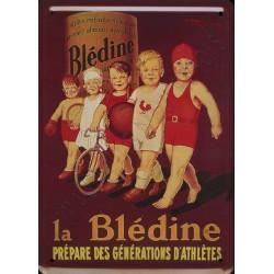 Plaque métal publicitaire 15x21cm : Blédine prépare les athlètes.