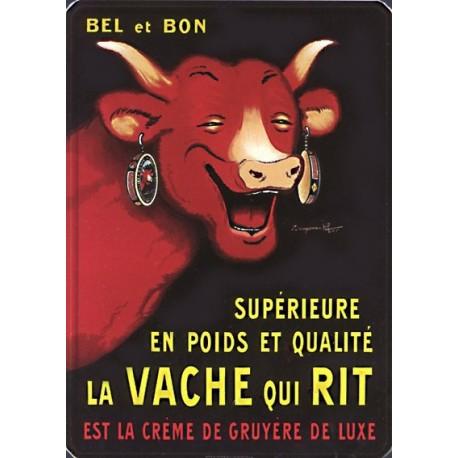 Plaque métal publicitaire 15x21cm bombée :  La Vache qui Rit
