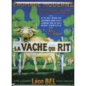 Plaque métal publicitaire 15x21cm plate : Vache qui Rit, Léon Bel.