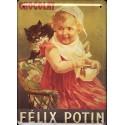 Plaque métal publicitaire 15x21cm plate : Chocolat Félix Potin.