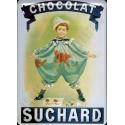 Plaque métal publicitaire 15x21cm plate : Chocolat SUCHARD.