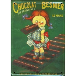 plaque publicitaire CHOCOLAT BESNIER