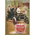 Plaque métal publicitaire 20x30cm bombée en relief : Drink Coca Cola