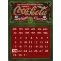 Calendrier métal publicitaire 30x40 cm plat : Coca Cola