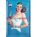 Plaque métal publicitaire 30x40cm plate : Pepsi Cola