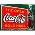 Plaque métal publicitaire 30x40cm plate : Ice Gold Coca Cola.