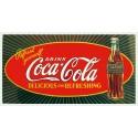 Plaque métal publicitaire 25x40cm plate : Coca cola.
