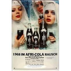 Plaque métal publicitaire 20x30cm  bombée en relief : 1968 IM AFRI-COLA