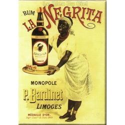 Plaque métal publicitaire 15x21cm bombée : Rhum la Négrita.