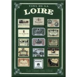 Plaque métal publicitaire 15x20cm plate : Vins de Loire.