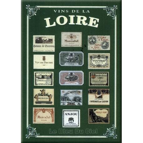 Plaque métal publicitaire 15x21cm bombée : Vins de Loire.