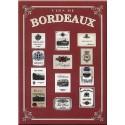 Plaque métal publicitaire 15x21cm bombée : Vins de Bordeau.