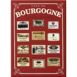 Plaque métal publicitaire 15x21cm bombée : Vins de Bourgogne.