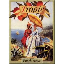Plaque métal publicitaire 15x20cm plate : Tropic, Punch Créole.
