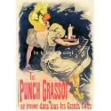 Plaque métal publicitaire 15x21cm bombée : Punch Grassot.