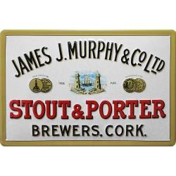 Plaque métal publicitaire 20x30 cm bombée en relief :  JAMES J.MURPHY LTD (A)