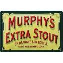 Plaque métal publicitaire 20x30cm bombée en relief : Murphy's Extra Stout.