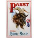 Plaque métal 20x30 cm bombée en relief : Pabst Beer.