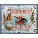 Plaque métal publicitaire 30x40 cm plate : Bière Anheuser-Busch.