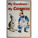 Plaque métal publicitaire 20x30cm bombée en relief : My Goodness - My GUINNESS.