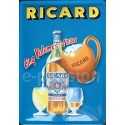 Plaque métal publicitaire20x30cm bombée en relief : RICARD.