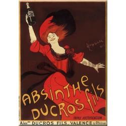 Plaque métal publicitaire 30x40cm plate : Absinthe DUCROS Fils