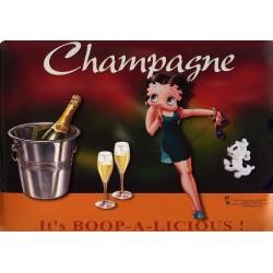 Plaque métal publicitaire 30x40cm plate : Betty Boop La star du XXième siècle.