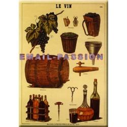 Plaque métal publicitaire30x40cm plate : Le Vin