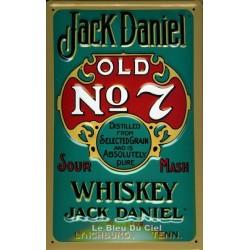 Plaque publicitaire 20x30 cm bombée en relief : JACK DANIEL Nº7.