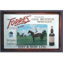 Plaque métal publicitaire 20x30 cm bombée en relief : Forest Finest old Whisky.
