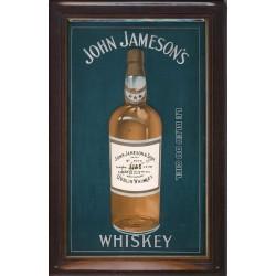 Plaque métal publicitaire 20x30cm  bombée en relief : John Jameson's Whiskey.