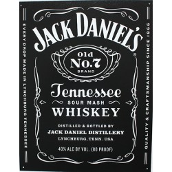 Plaque métal publicitaire plate 30x40cm : Whisky Jack Daniel's Tennessee.