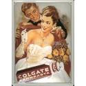 Plaque métal publicitaire 20x30 cm bombée en relief : Dentifrice Colgate.